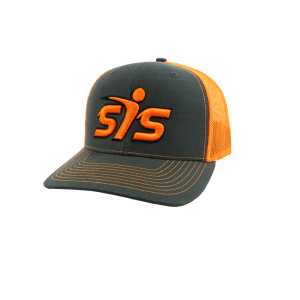 Smash It Sports by Richardson (R112) SNAP BACK-Charcoal/Neon Orange/Charcoal/Black/Neon Orange